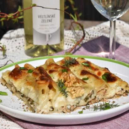 Recepty s vínem: Plněné cannelloni