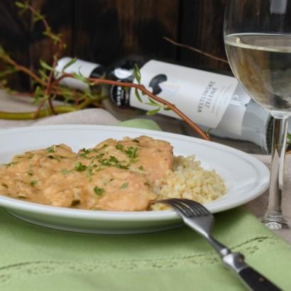 Recepty s vínem: Smetanové krůtí plátky